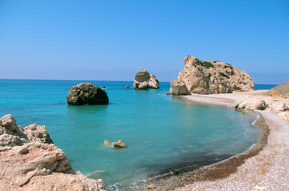 (Fr:Chypre - Petra tou Romiou) (no model or property release)