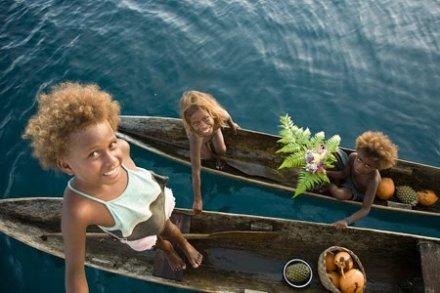 solomon-island- blond hair kids 20120507