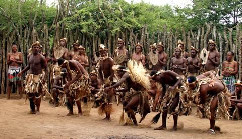 Tribu Zoulous en Afrique du Sud