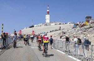 Cyclistes au Mont Ventoux