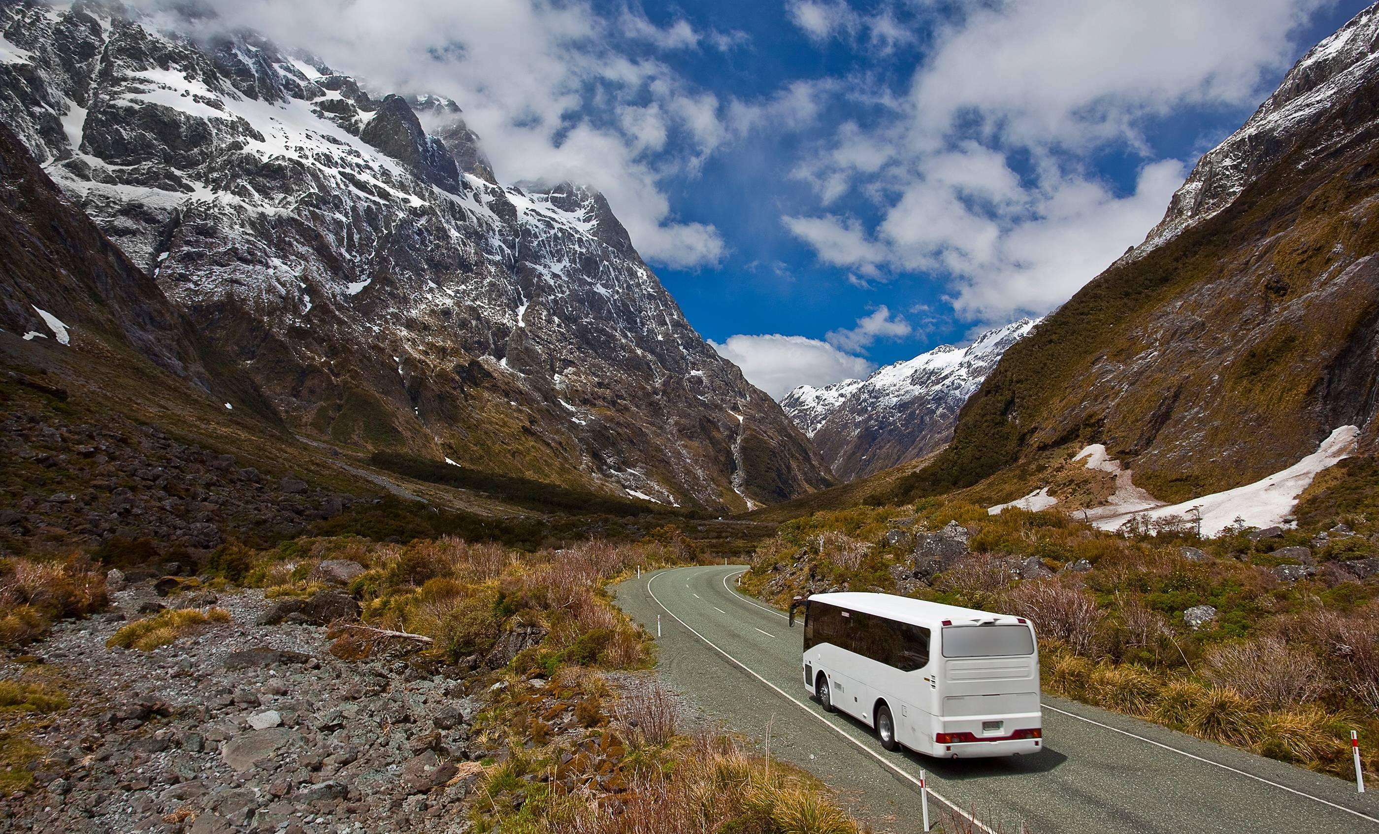 voyager en bus à la montagne